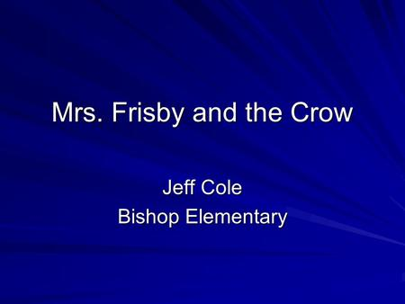 Jeff Cole Bishop Elementary
