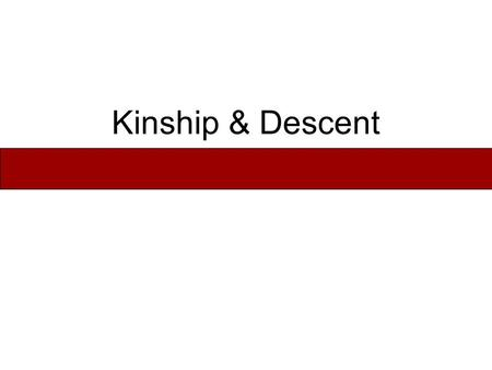 Kinship & Descent. What Is Kinship? Kinship is a relationship between any entities that share a genealogical origin (biological, cultural, or historical).