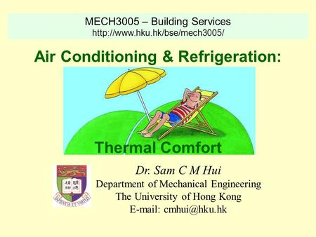 Air Conditioning & Refrigeration: