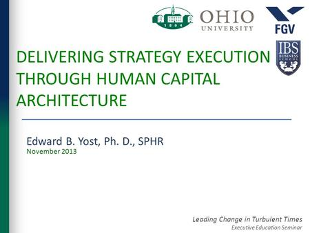 Delivering Strategy Execution Through Human Capital Architecture