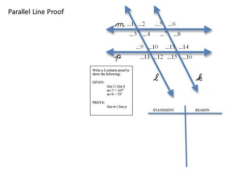 3-3 Proving Lines Parallel - ppt download
