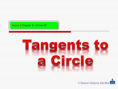 Tangents to a Circle.