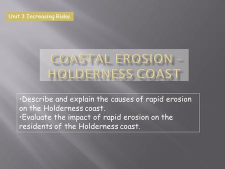 Coastal Erosion – Holderness Coast
