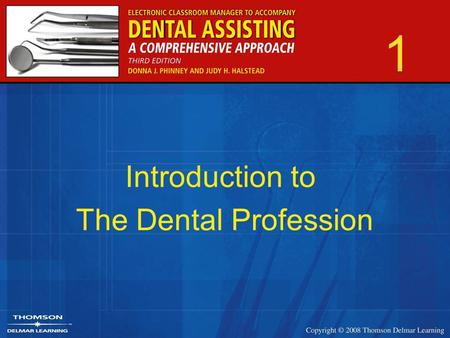 1 Introduction to The Dental Profession. 2 History of Dentistry Early times –Herodotus –Hesi-Re –Hippocrates Book On Affections Oath of Hippocrates –Aristotle.