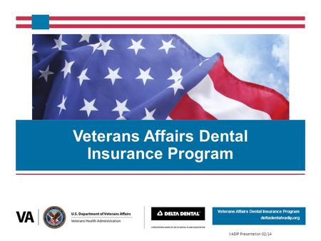 Veterans Affairs Dental Insurance Program deltadentalvadip.org Veterans Affairs Dental Insurance Program VADIP Presentation 02/14.