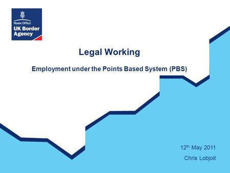 Legal Working Employment under the Points Based System (PBS) 12 th May 2011 Chris Lobjoit.