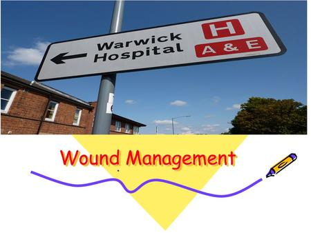Wound Management.. The Goals Create optimal conditions for the patient to heal themselves. Preserve function. Minimize complications. Improve the chances.