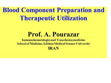 Blood Component Preparation and Therapeutic Utilization