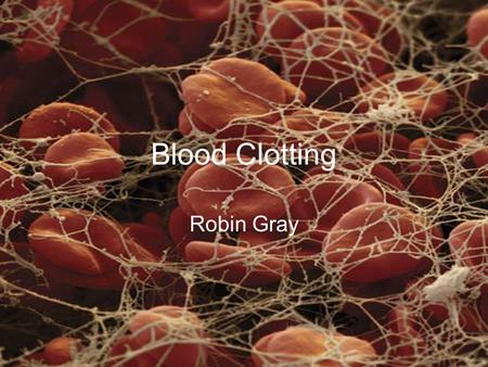 Blood Clotting Robin Gray.