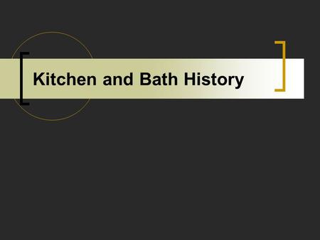 Kitchen and Bath History. S The First Electric Range 1910.