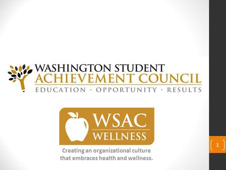 Creating an organizational culture that embraces health and wellness. 1.