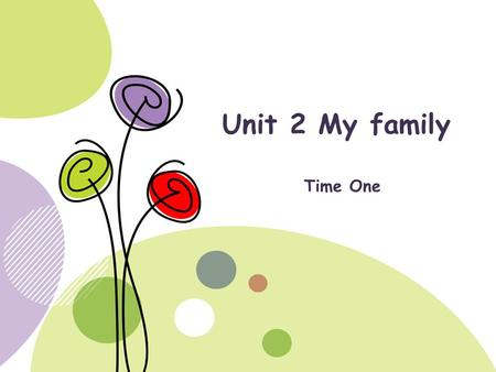 Unit 2 My family Time One. Contents Review of Unit 1 Task one Task two Word list Home work Describe your family in English Describe your home in English.