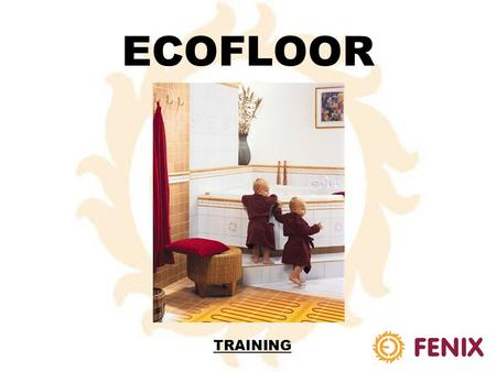 ECOFLOOR TRAINING HEATING CABLE TYPES SINGLE-CORD CABLES*:DOUBLE-CORD CABLES**: - SCREEN PROTECTION: - WITHOUT SCREEN PROTECTION: - SCREEN PROTECTION: