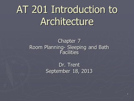 AT 201 Introduction to Architecture