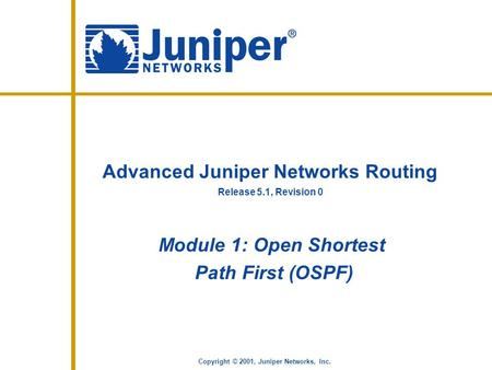 Advanced Juniper Networks Routing
