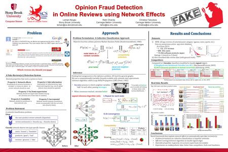 Node labels as random variables prior belief observed neighbor potentials compatibility potentials Opinion Fraud Detection in Online Reviews using Network.