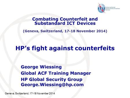 HP's fight against counterfeits