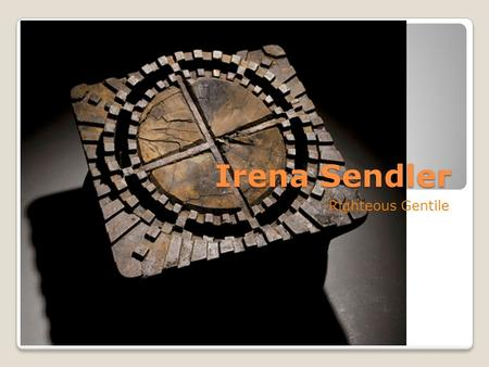 Irena Sendler Righteous Gentile. Irena Sendler (Sendlerowa) Born in 1910 Catholic Social Worker Used fake ID to pose as a nurse to enter the walled off.