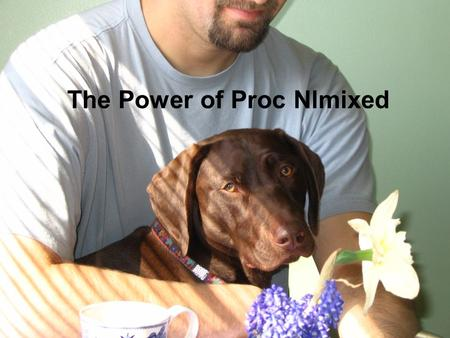 The Power of Proc Nlmixed. Introduction Proc Nlmixed fits nonlinear mixed-effects models (NLMMs) – models in which the fixed and random effects have a.