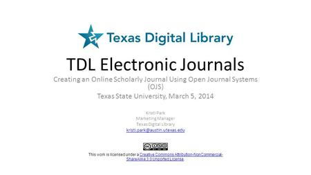 TDL Electronic Journals
