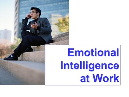 Emotional Intelligence at Work. Emotional Intelligence Framework The Intrapersonal Realm The Interpersonal Realm The Adaptability Realm The Stress Management.