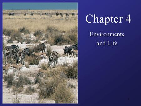 1 Chapter 4 Environments and Life. 2 Guiding Questions What factors determine the ecological niches of species, and by what means do species obtain nutrition?