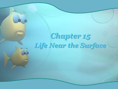 Chapter 15 Life Near the Surface. Vast open sea – pelagic realm Contains almost all of the liquid water on earth Vast open sea – pelagic realm Contains.