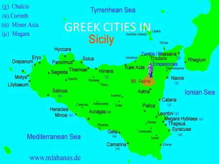 GREEK CITIES IN. Magna Græcia (Latin meaning Great Greece, Greek: Μεγάλη Ἑλλάς, Megálē Hellás) is the name of the coastal areas of Southern Italy on.