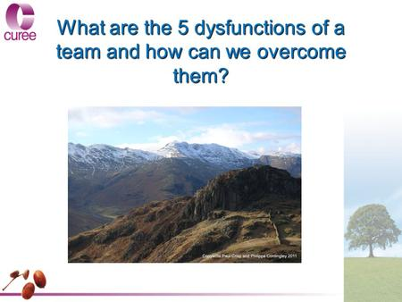 What are the 5 dysfunctions of a team and how can we overcome them?