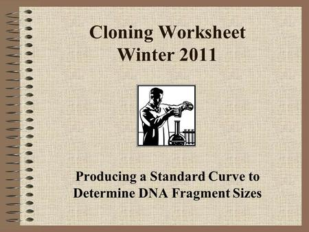 Cloning Worksheet Winter 2011 Producing a Standard Curve to Determine DNA Fragment Sizes.