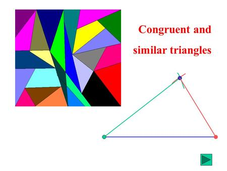 Congruent and similar triangles. You are going to draw a triangle onto card or paper You will need a ruler and compasses to construct it.