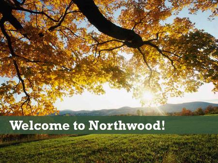 Welcome to Northwood!. A window to our own heart.