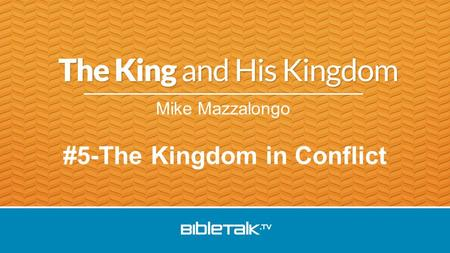 Mike Mazzalongo #5-The Kingdom in Conflict. Jesus summoned His twelve disciples and gave them authority over unclean spirits, to cast them out, and to.
