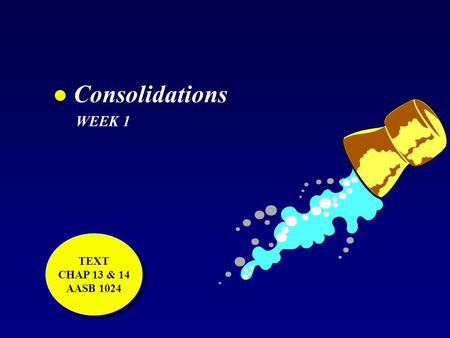 L Consolidations WEEK 1 TEXT CHAP 13 & 14 AASB 1024 TEXT CHAP 13 & 14 AASB 1024.