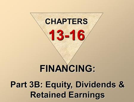 Part 3B: Equity, Dividends & Retained Earnings