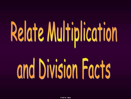 Relate Multiplication