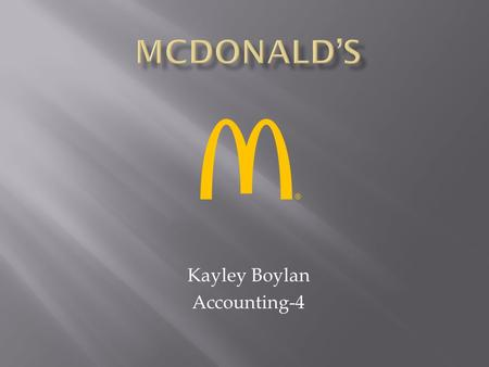 Kayley Boylan Accounting-4.  1940: Dick and Mac McDonald open McDonald's Bar-B-Que restaurant on Fourteenth and E streets in San Bernardino, California.
