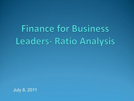 July 8, 2011. Financial Ratio Analysis Financial ratios combine different financial parameters. They are based on the financial data drawn from the balance.