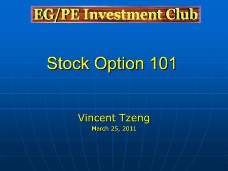 Buying stocks options