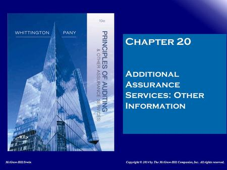 Chapter 20 Additional Assurance Services: Other Information