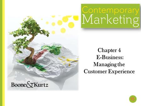 Chapter 4 E-Business: Managing the Customer Experience