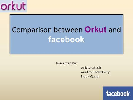 Comparison between Orkut and facebook