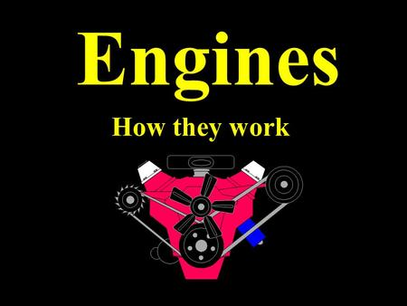 Engines How they work. A spark plug is used to ignite the fuel in an engine.