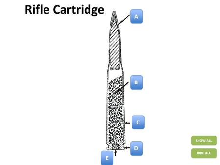 Rifle Cartridge SHOW ALL HIDE ALL A A B B C C D D E E.