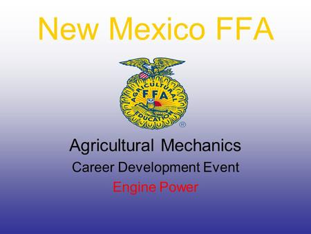 New Mexico FFA Agricultural Mechanics Career Development Event Engine Power.