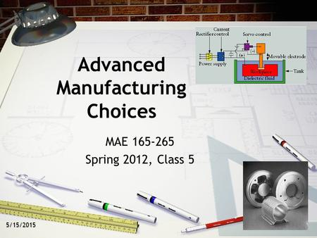 Advanced <strong>Manufacturing</strong> Choices