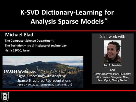K-SVD Dictionary-Learning for Analysis Sparse Models