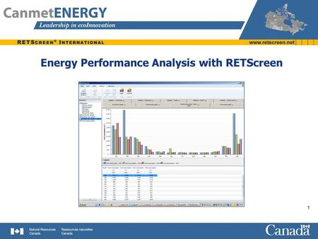 Energy Performance Analysis with RETScreen