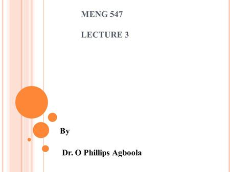 MENG 547 LECTURE 3 By Dr. O Phillips Agboola. C OMMERCIAL & INDUSTRIAL BUILDING ENERGY AUDIT Why do we audit Commercial/Industrial buildings Important.