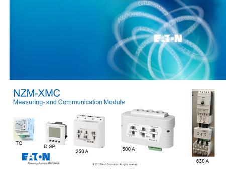 NZM-XMC Measuring- and Communication Module TC DISP 500 A 250 A 630 A.